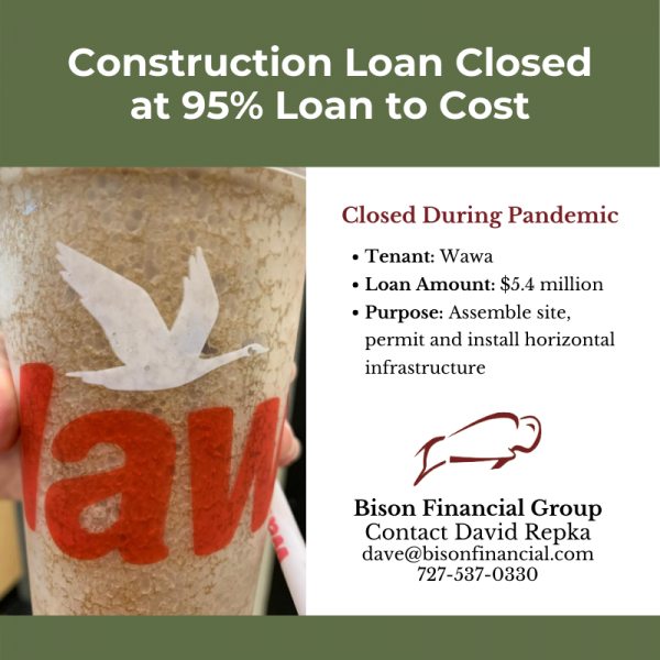 Bison Closes Construction Loan for 95% of Project Cost