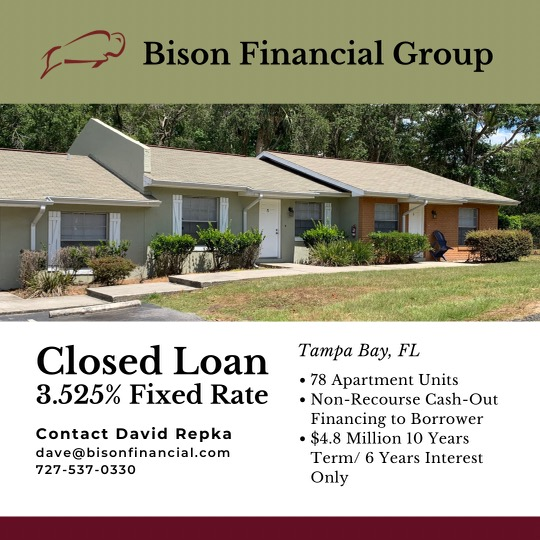 Bison Closes $4.8 Million Refi Loan for Class C Multifamily
