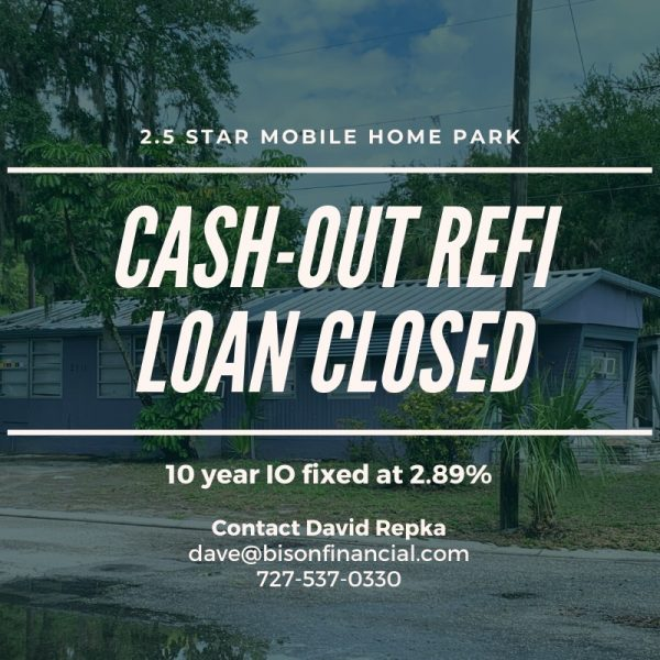 $10.92 Million Cash Out Refinance Loan on Florida MHP