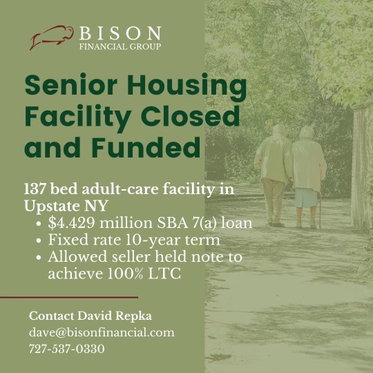 Bison Closes $4.4 Million Acquisition Loan for Adult-Care Facility