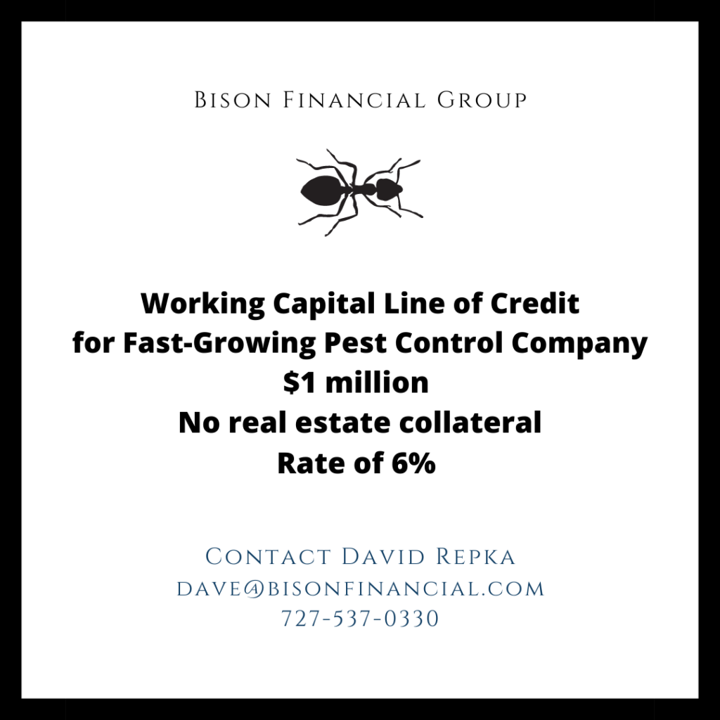 Bison Closes $1 Million Working Capital Line of Credit